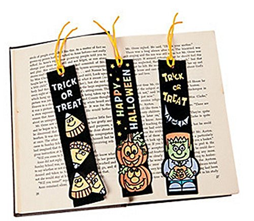 Color Your Own Halloween Fuzzy Bookmarks (Halloween Bookmark)