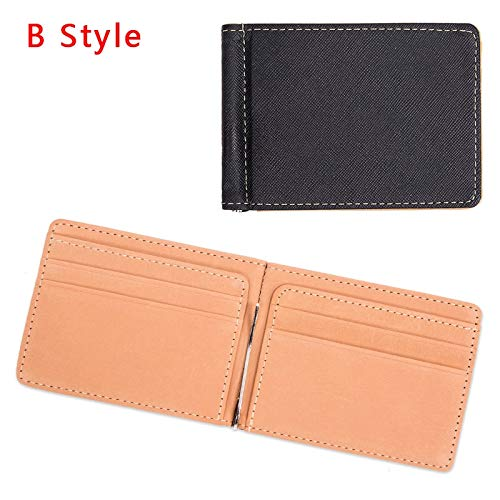 (Best Quality Hah Men PU Leather Wallet Card Holder Male Fashion Purse Small Hasp Money Bag Mini Vintage Slim Wallets Clutch Bags carteira)