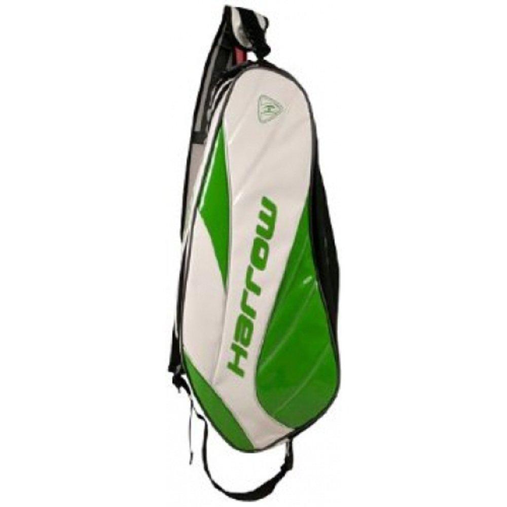 Harrow Dynasty Racquet Bag White/Kelly Green