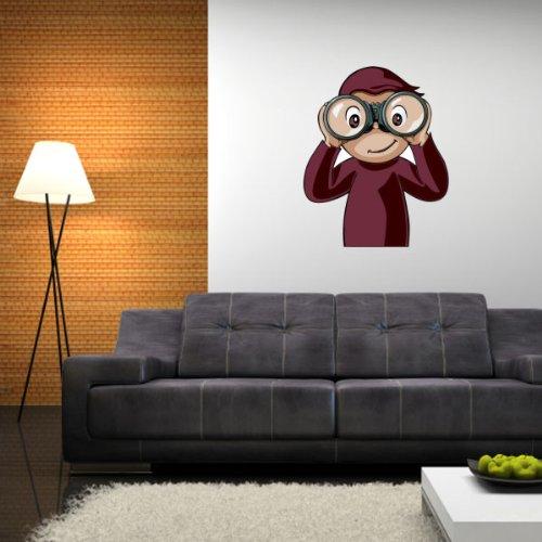 "Curious George Binoculars Wall Graphic Decal Sticker 25"" x 20"""