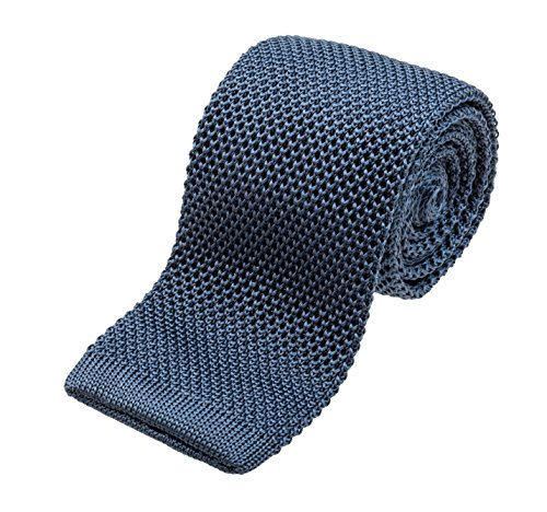 Benchmark Ties 100% Silk Knit Tie in Blue Gray (2.5