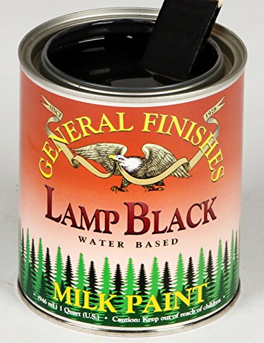 General Finishes QLB Milk Paint, 1 quart, Lamp Black