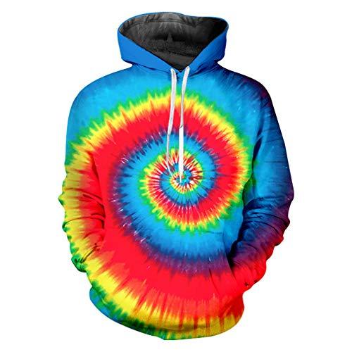 Lunghe 3d In Maniche Cappuccio Rainbow Da Vortex A Arcobaleno Uomo Stampa Felpe wW8q1XCxOq