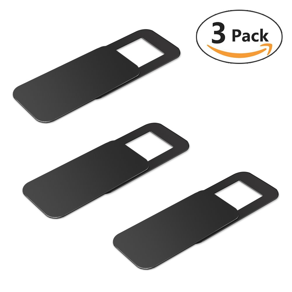 Webcam Cover, totobay 3 Pack Web Camera Cover Slide for Laptop, Desktop, PC, Macboook Pro, iMac, Mac Mini, Computer, Smartphone, Protecting Privacy and Securtiy, Strong Adhensive (Black) (Black) TOTOBAY Direct TO-WEB-bk