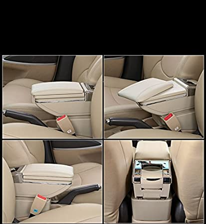 muchkey Car Armrest Box For 2009-2011 Focus 2 Arm Rest Cover Center Console PU leather Interior Decoration Accessories Black