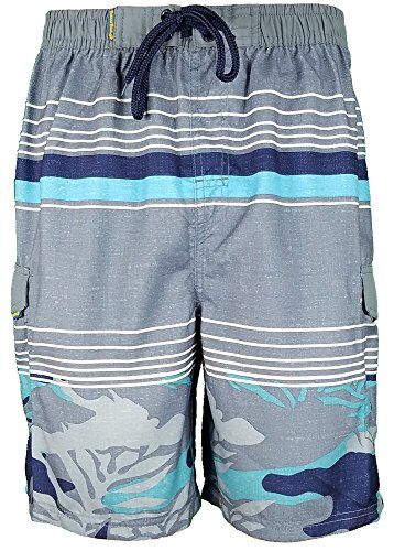 Mesh Microfiber Trunk - Banana Boat Men's Swim Trunks Surf Beachwear Lined Elastic Waist Boardshorts UPF 50+ Navy X-Large