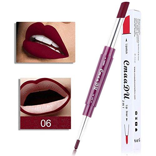 Chiak 2 in 1 Moisturizing Waterproof Lipsticks Matte lips Makeup Lipstick Lip liner Lip Liners