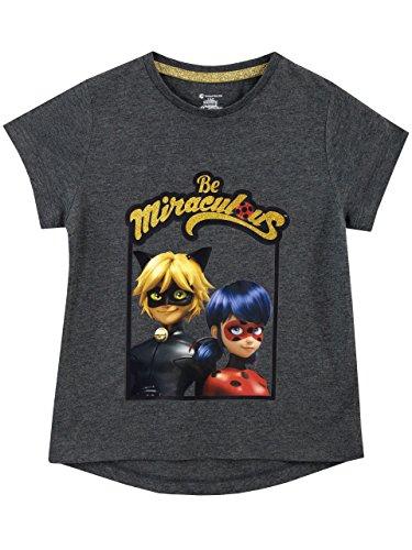 Miraculous Ladybug Girls' Lady Bug & Cat Noir T-Shirt Size 5