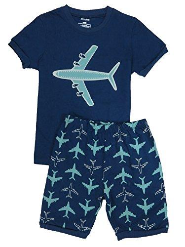 Babypajama Airplane Little Boys Short Pajama Set 2 Piece T-Shirt & Pants