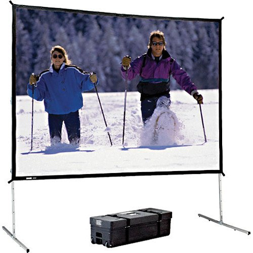 Lite Portable Front Projection Screen (Fast Fold Deluxe Black Portable Projection Screen Viewing Area: 159