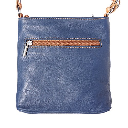 Florence Borsa cuoio Tracolla Market Blu A 8685 Leather Scuro a8wrqa
