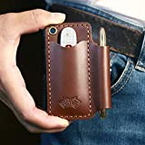 EASYANT Mini Leather Pocket Organizer Slip EDC Gear