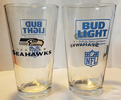 super bowl pint glass set - 4