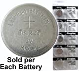 Energizer EBR1225 (BR1225, CR1225) Lithium Coin Cell, On Tear Strip (Pack of 5)