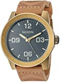 Nixon Men's 'Corporal' Quartz Stainless Steel Casual Watch, Color:Brown (Model: A2432731)
