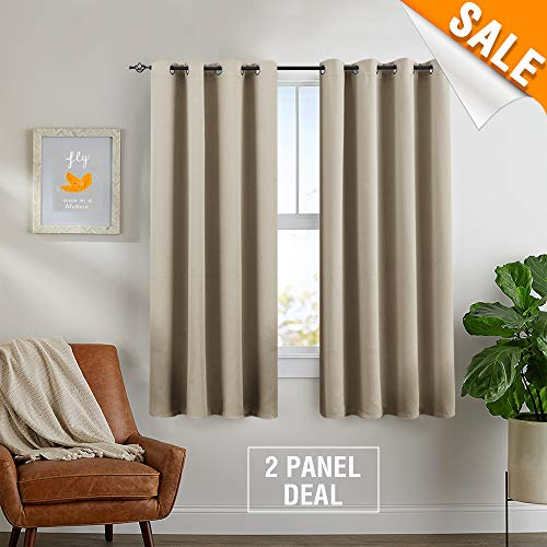 Room Darkening Save On Cooling Cost Curtains for Living Room Curtains for Bedroom Triple Weave Grommets Top Energy Saving Window Treatment Set by One Pair 63