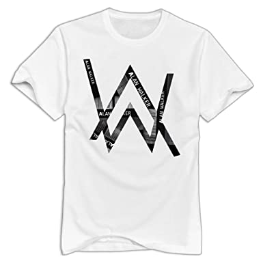035f75559 Amazon.com: Katie P. Hunt Men's Alan Walker Tee White: Clothing