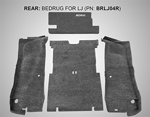 BedRug Jeep Kit - BedRug BRLJ04R fits 03-06 LJ UNLIMITED REAR 4PC CARGO KIT (INCLUDES TAILGATE & TUB LINER) ()