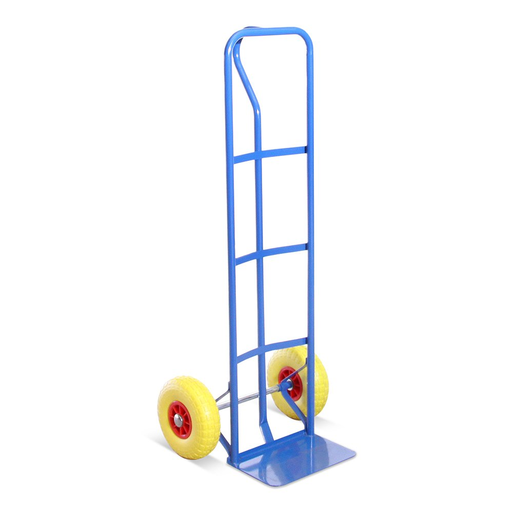 High Back P-Handle Industrial Steel Sack Truck - with Anti Puncture Tyres and 325kg Load Capacity (Blue)- 5 Year Warranty G-Rack T1BLUE