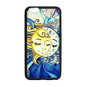 Sun and Moon Design Solid Rubber Customized Cover Case for iPhone 6 plus 5.5