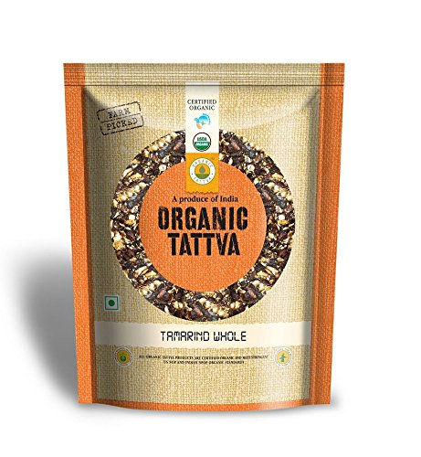 Organic Tattva Indian Tamarind Whole Imli, 500g USDA Certified