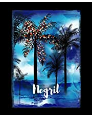 Negril: Jamaican Christmas Notebook With Lined College Ruled Paper For Taking Notes. Stylish Tropical Travel Journal Diary 7.5 x 9.25 Inch Soft Cover. For Home, Work Or School.