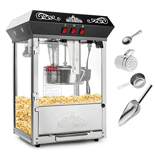 2. Olde Midway Bar Style Popcorn Machine Maker Popper with 8-Ounce Kettle
