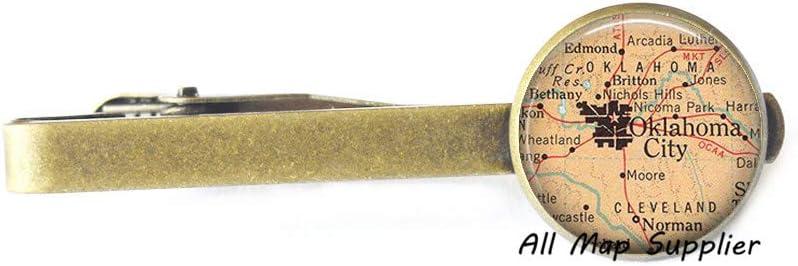 AllMapsupplier Charming Tie Clip,Oklahoma City map Tie Clip,Oklahoma City map Tie Clip Tie Pin,Oklahoma City Tie Clip Tie Pin,Oklahoma City Tie Clip,A0232