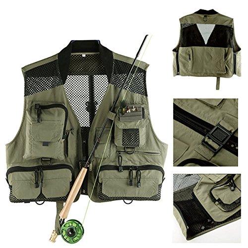 Bazaar Maille maxcatch pêche à la mouche gilet de chasse photographier gilet multifonctionnel vestes de poche
