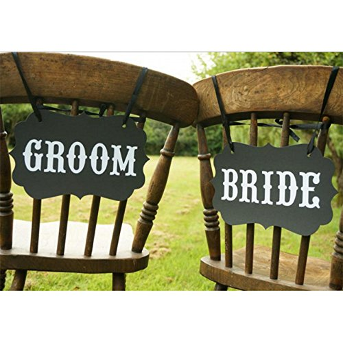 Bride and Groom Chair Signs (Bride And Groom Signs)