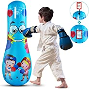 Inflatable Punching Bag for Kinds 47, Free Standing Boxing Toy for Children, Punching Bag for Boys & Girls
