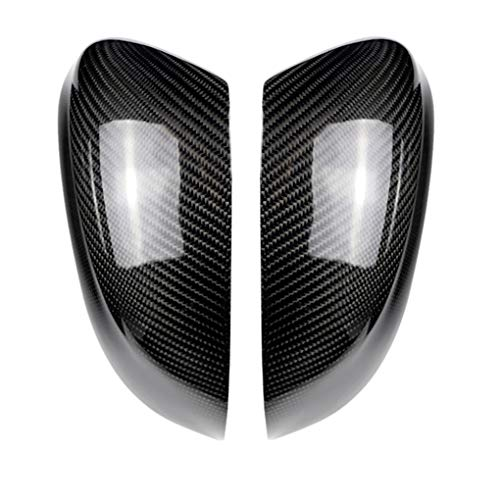 Opiersen Replacement For BMW x5 x3 x4 2014-2107 1 Pair Rearview Mirror Cover Left Right Side Carbon Fiber Trim ()