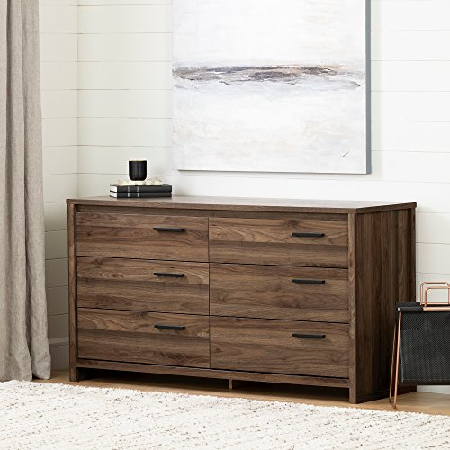 South Shore 11936 Tao 6-Drawer Double Dresser, Natural Walnut