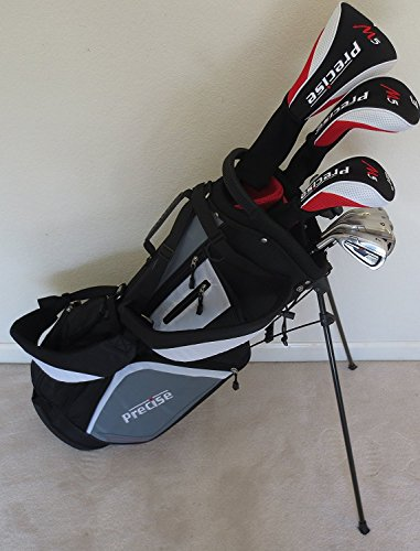 - New Mens Left Handed Complete Golf Club Set Driver, Fairway Wood, Hybrid, Irons, Putter & Stand Bag