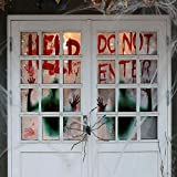 Angmart 2 Piece Halloween Giant Bloody Window Posters Party Decoration for Haunted Houses,Halloween Parties
