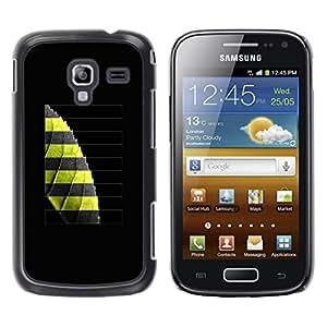 TopCaseStore / la caja del caucho duro de la cubierta de protección de la piel - Greeon Leaf - Samsung Galaxy Ace 2 I8160 Ace II X S7560M