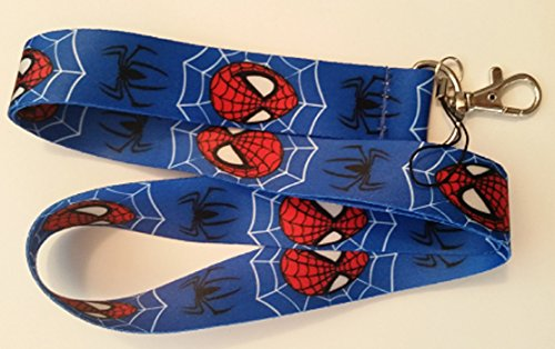 The Amazing Spiderman Lanyard Keychain Set (Blue)