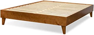 product image for eLuxurySupply Wood Bed Frame - 100% North American Pine - Solid Mattress Platform Foundation w/Pressed Pine Slats - Easy Assembly - Full