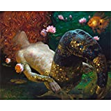 Paint by Numbers Kits for Adults Children Seniors Junior Beginner Acrylics DIY Oil Painting Kits Mermaid-Wooden Frame