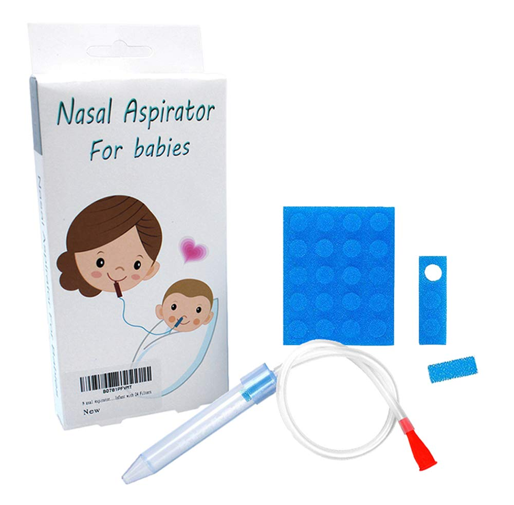 Baby Nasal Aspirator for Newborns to Toddlers,Premium Mucus Aspirator Snot Sucker for Infant with 23 Extra Hygiene Filters, Booger Extractor, Nasal Congestion Relief,Safe and Fast