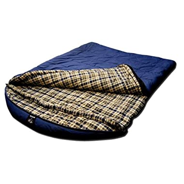 Grizzly by Black Pine 2 Person -25 Degree F Canvas Sleeping Bag, Blue
