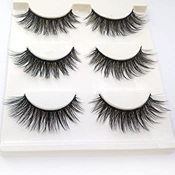 a3b36cb37d3 Trcoveric 3D Fake Eyelashes Makeup Hand-made Dramatic Thick Crisscross  Deluxe False Lashes Black Nature Fluffy Long Soft Reusable 3 Pair Pack