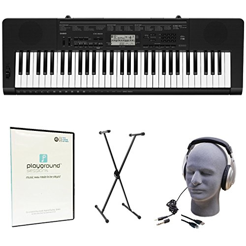 Casio CTK-3500 Learn-To-Play Quincy Jones Keyboard Bundle with Playground Sessions