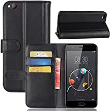 ZTE nubia N2 Case,Gift_Source [ID Credit Card Slot] [Wallet Style] Premium Genuine Leather Flip Folio Cover Magnetic Closure Protective Case & Stand Function for ZTE nubia N2 (5.5 inch) [Black]