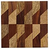 """BEST PRICE - BEST PARTY COCKTAIL DRINK COASTERS (4 PACK) - Wooden Bar Beer Beverage Coasters 4"""" for Glasses / Coffee Mugs / Water Tumblers - Gifts for Men , Women - Table & Kitchen Accessories"""