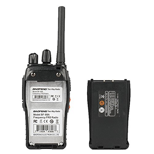 Baofeng BF-88A FRS Two Way Radio (Upgrade Version of BF-888S) 16 Channels Handheld Rechargeable License Free Walkie Talkies with USB Charger + Earpiece, 2pcs by BaoFeng (Image #4)