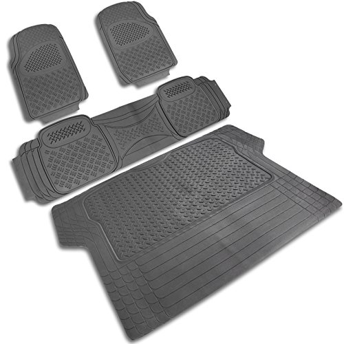 Spec-D MAT-3201GRY Gray All Weather Floor Mats 4pcs ()