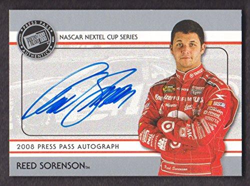 2008 Press Pass Racing Autograph Reed Sorenson NASCAR Nextel Cup Auto