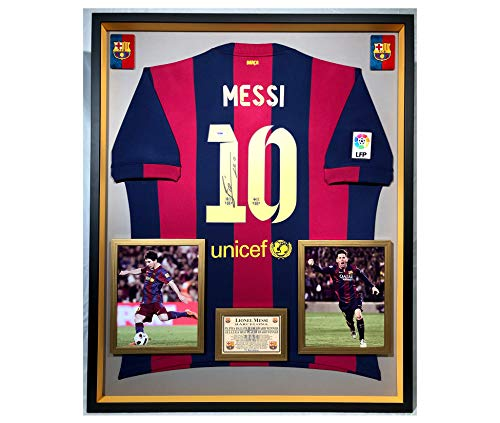 the best attitude 8c861 13f10 Premium Framed Leonel Messi Autographed/Signed Barcelona Official Nike  Jersey/Shirt - PSA COA