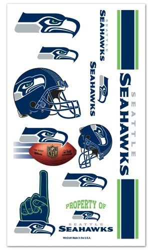 Seattle Seahawks NFL Temporary Tattoos (10 Tattoos) ()